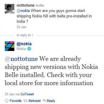 Nokia Symbian 3 devices with Belle out the box