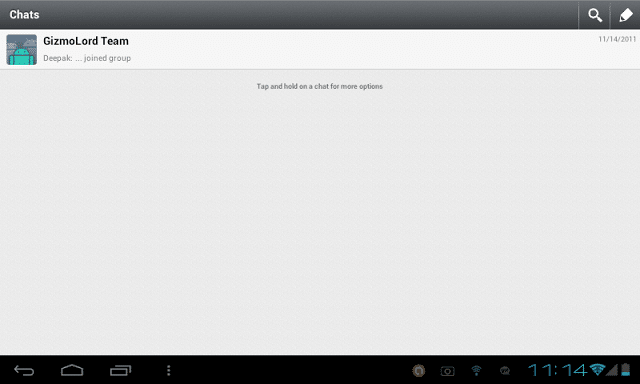 Install Whatsapp app on Android Tablet