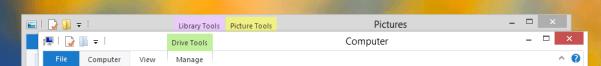 The new Windows 8 title bars