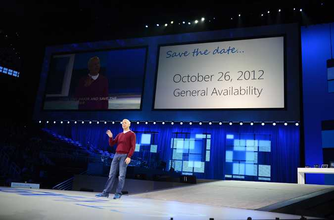 Steven Sinofsky during Microsoft's annual sales meeting