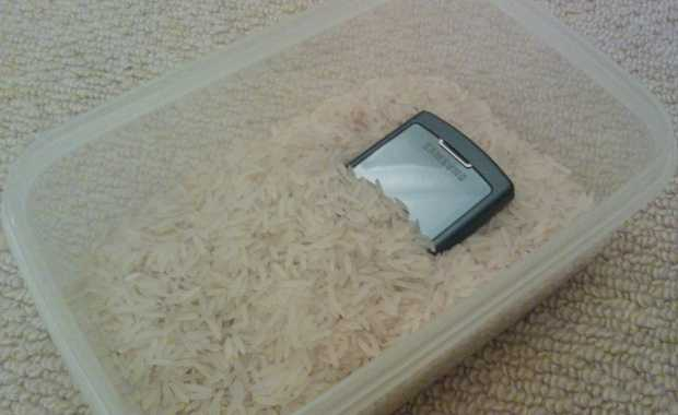 Phone kept in uncooked rice - Save drowned smartphone
