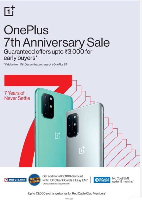 OnePlus 7th Anniversary Sale Offers